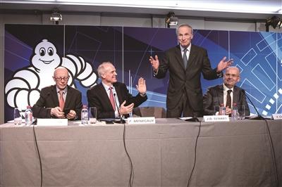 米其林集团在巴黎举行二零一八年度业绩发布会